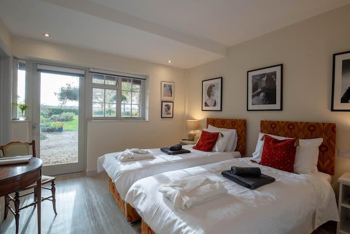 Stylish double or twin room in luxury rural B&B