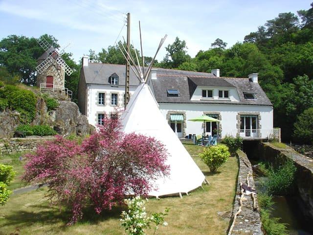 Moulin à Auray entre rivière et mer - Brech - Rumah