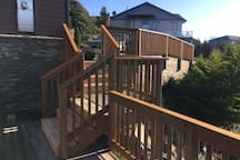 More Gorgeous Deck on Custom Home Above The Bay