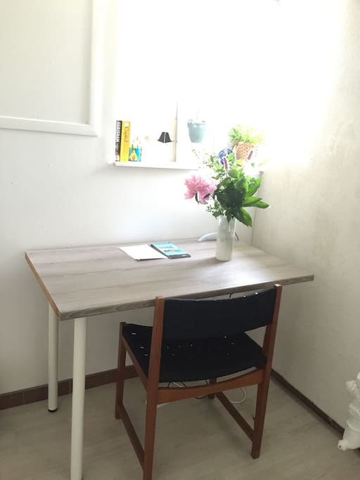 Desk for work or eating in