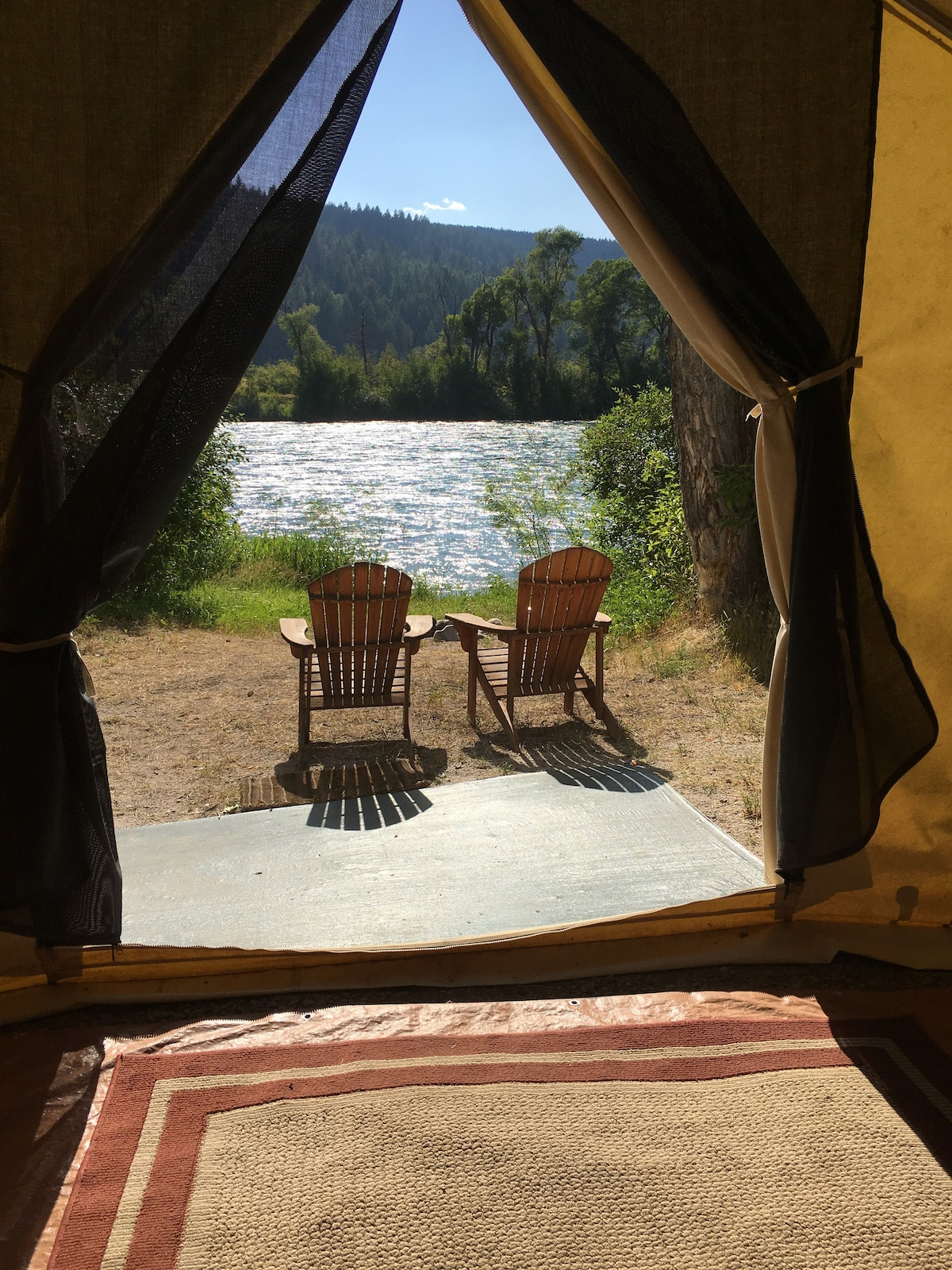 View Photos & Riverside Wall Tent - Tents for Rent in Irwin Idaho United States