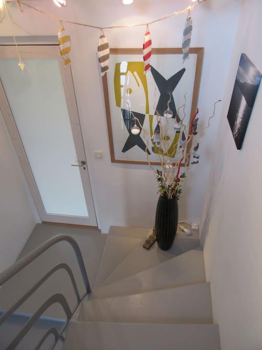 la montée d'escalier pour accéder directement à votre logement