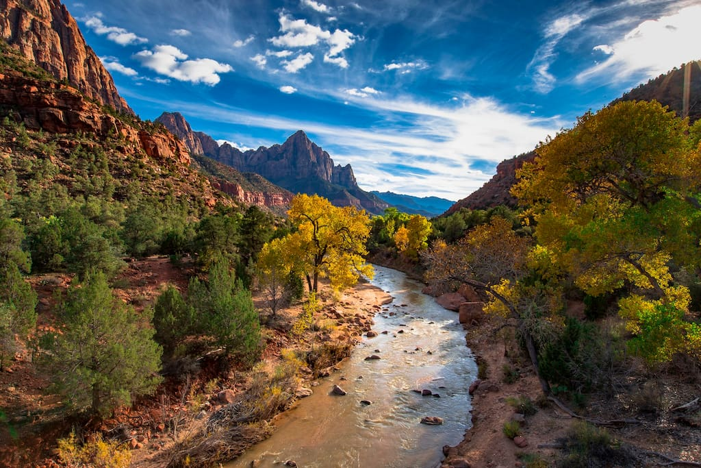 The Virgin river through zion