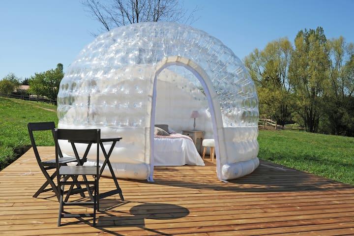 Chambre bulle insolite chauffée