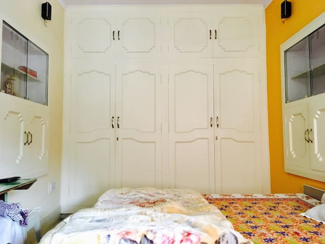 First room: With top notch O'General AC, Wardrobe, 5.1 music system, lost of sunlight and fresh air.