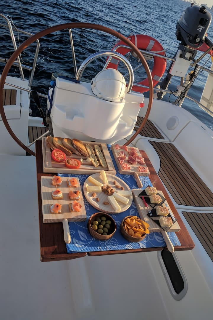 Served on board, perfect afterswimming