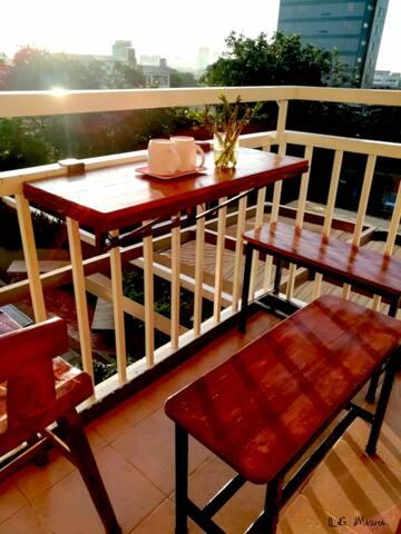 own balcony