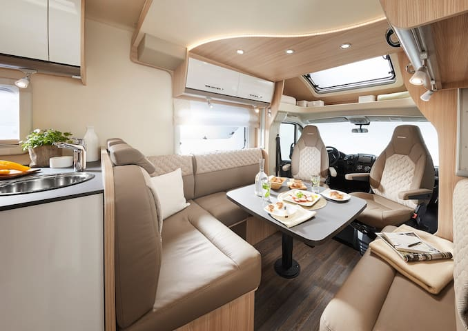 Luxury Motorhoming with this Brand new Burstner.