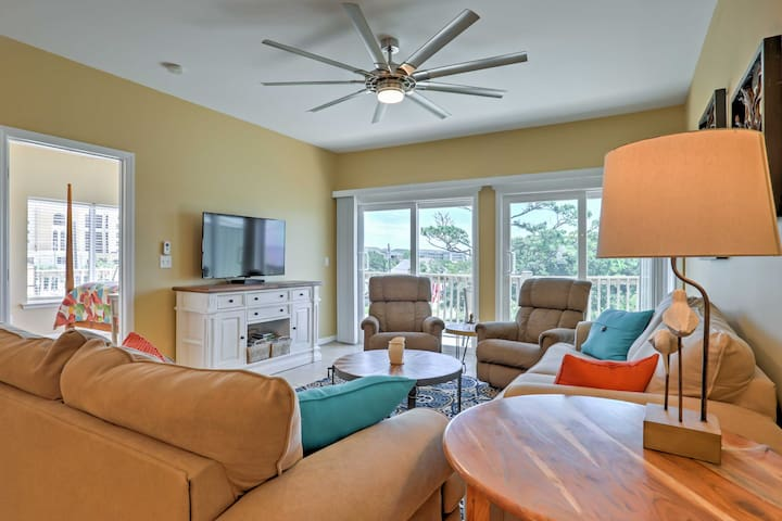 Enjoy a movie with your guests after a long day exploring Dauphin Island!