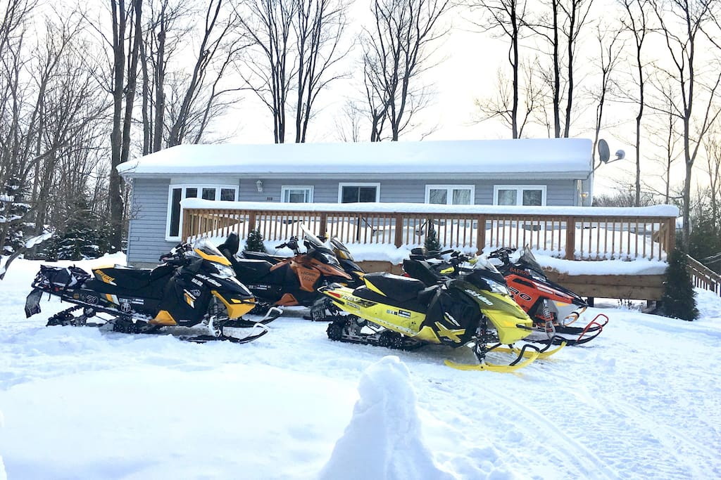 Winter and snowmobiling