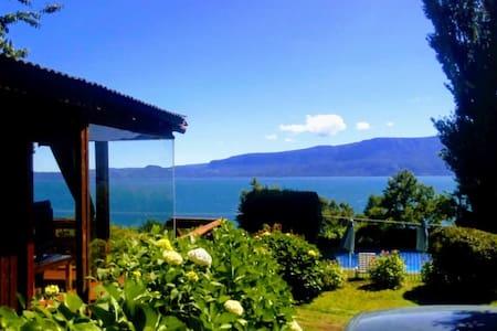Alojamiento en Pucón,con la mejor vista al lago.