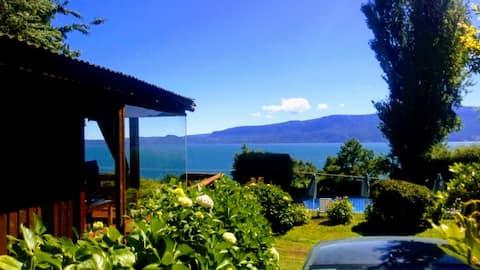 En iyi göl manzarasına sahip Pucón'da bir gecelik konaklama.