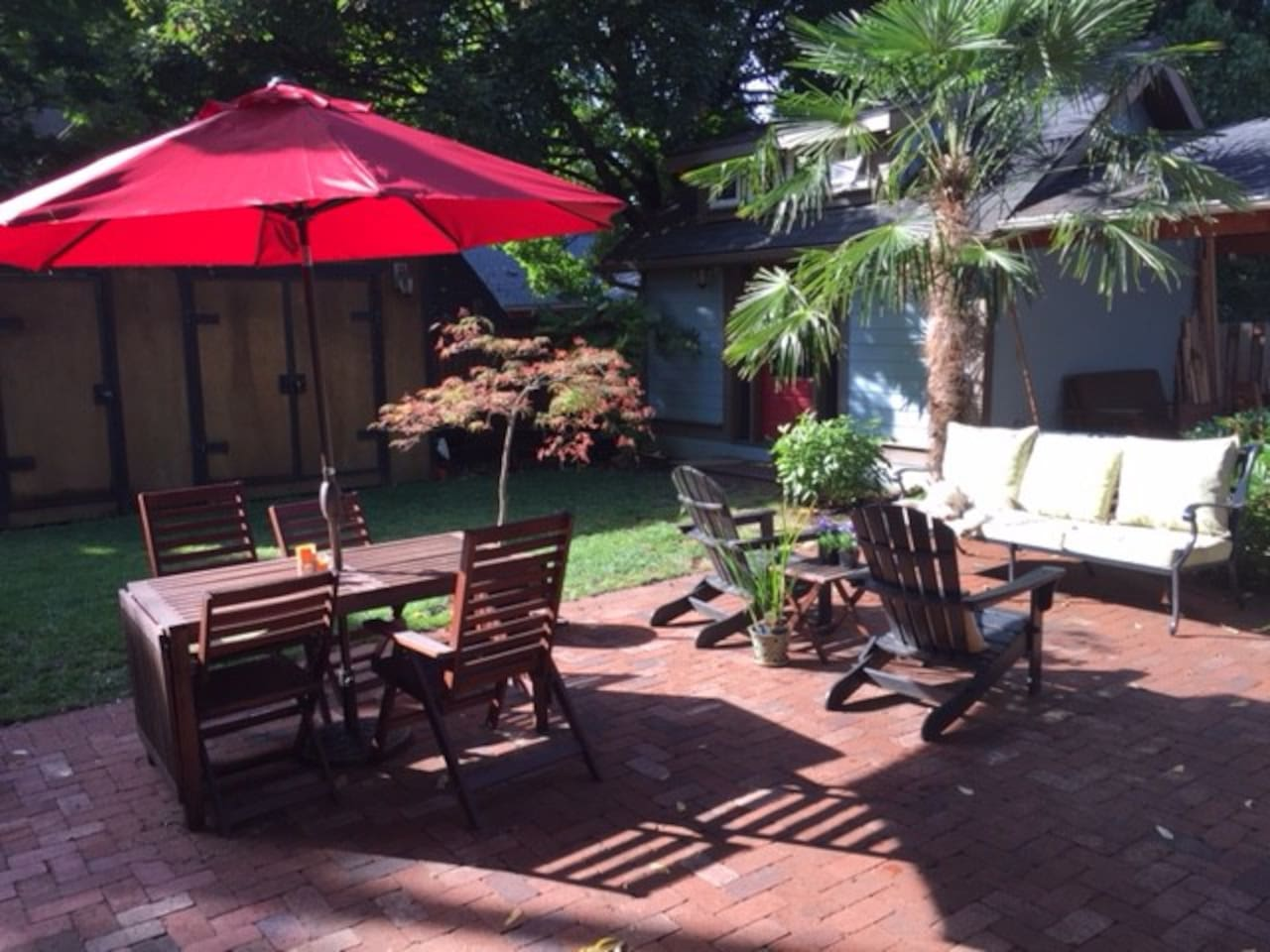 Shared patio and yard