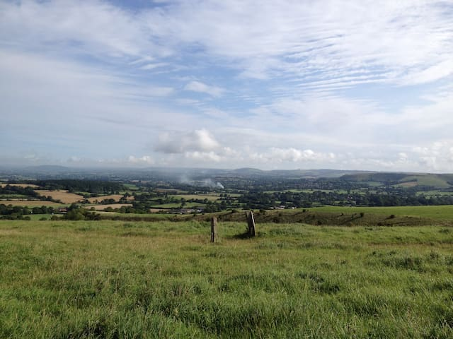 View from Okeford Fitzpaine Hill (15 minute walk)