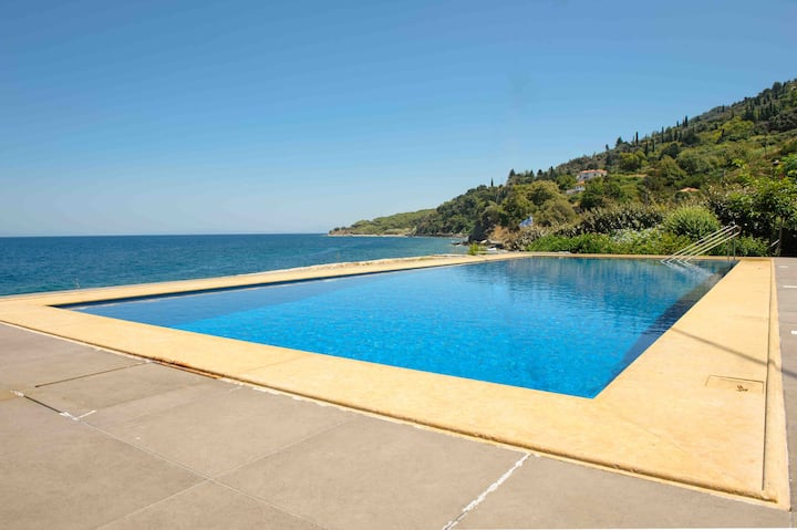 Stunning seafront home with private pool