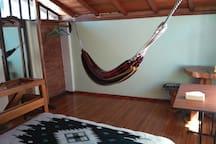 hammock on the 2nd floor