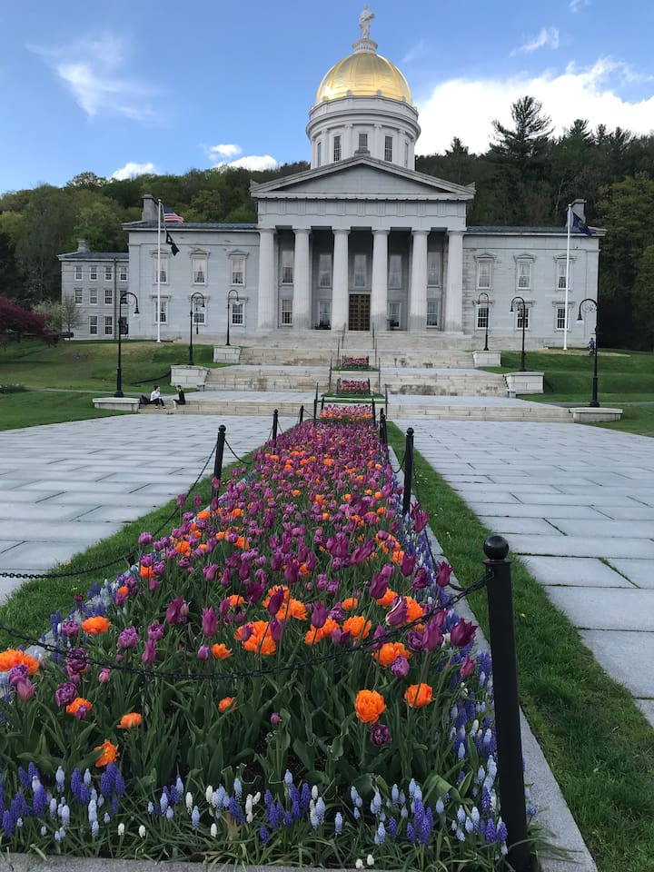 Vermont's beautiful state capitol building