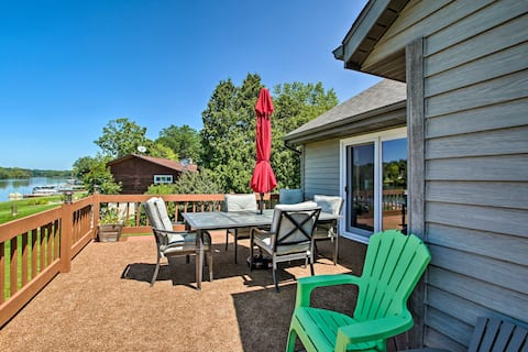 Family Home w/Deck, Yard, Dock on Rock River!
