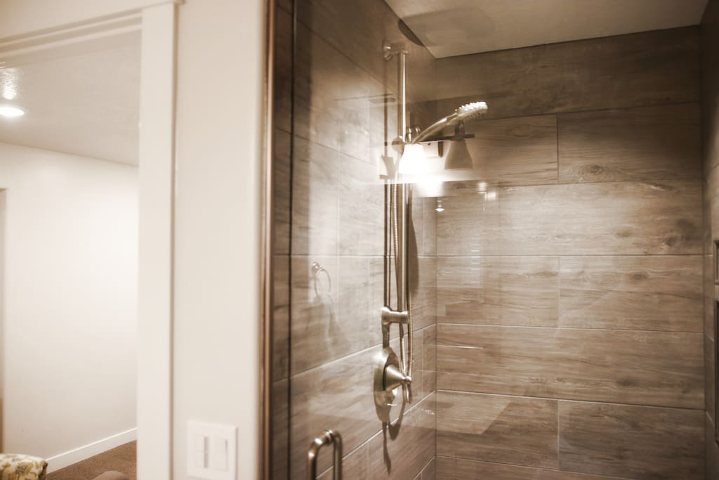 Master bath shower: the best part of the house