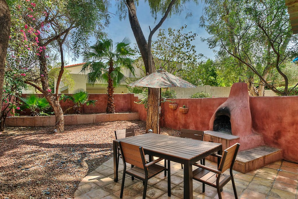 Look forward to relaxing in the home's stellar private backyard retreat, complete with gas grill.