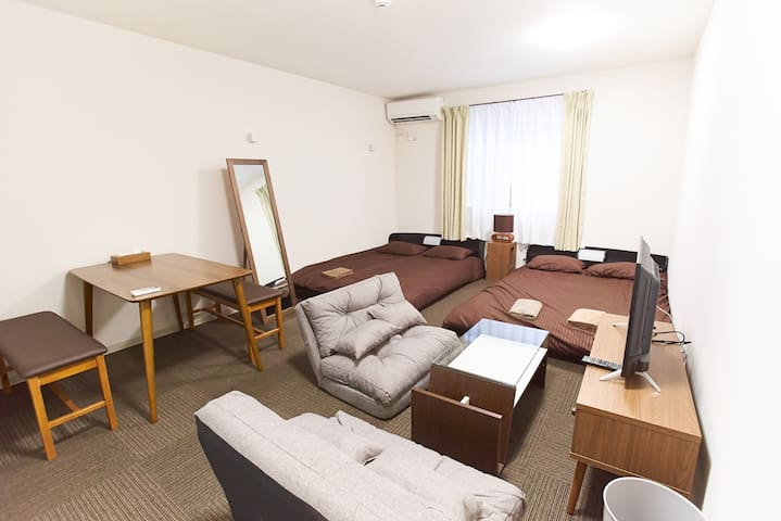 [6PAX]JR 3mins walk/near Shuttle bus stop/WiFi/101