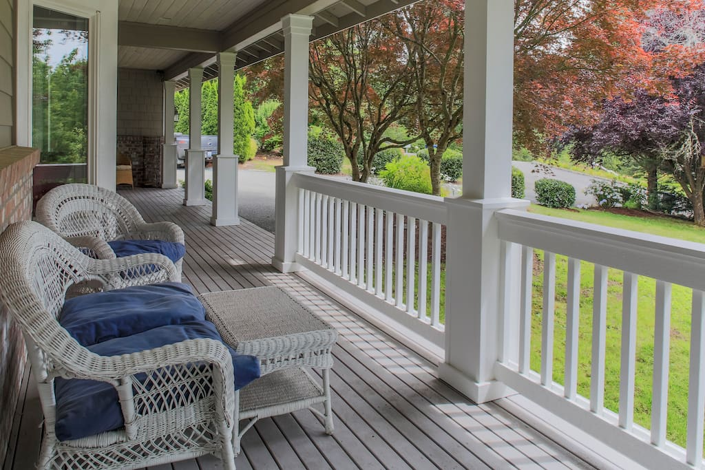 Watch the world go by from the porch.