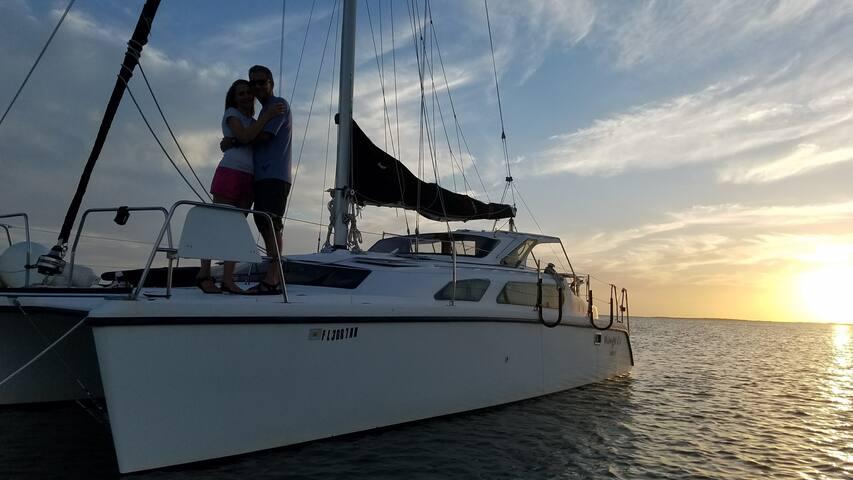 Catamaran in Key Largo