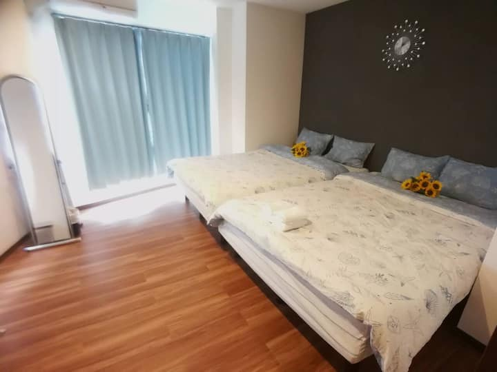 C3_池袋站6分钟两卧室三张双人床便利公寓