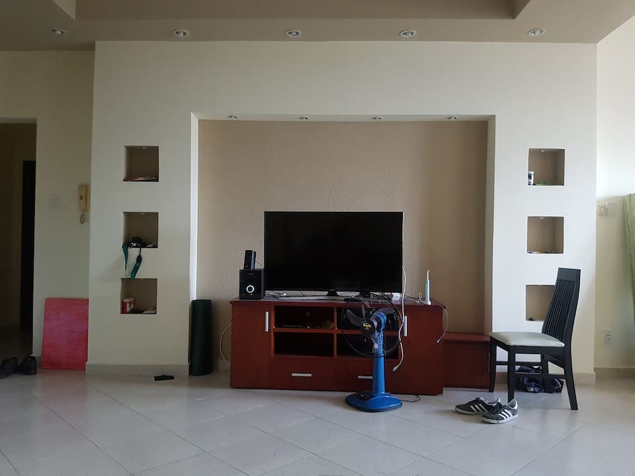 Living room tv and speakers