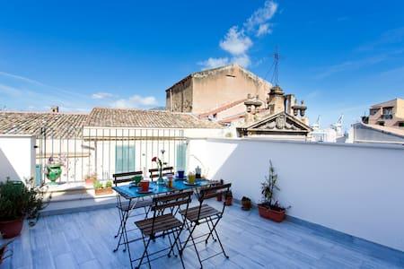 Aria - Bright loft, terrace and sea view. - Palermo - Apartemen
