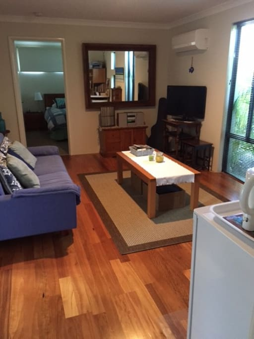 Private sitting area with TV, Kitchenette etc