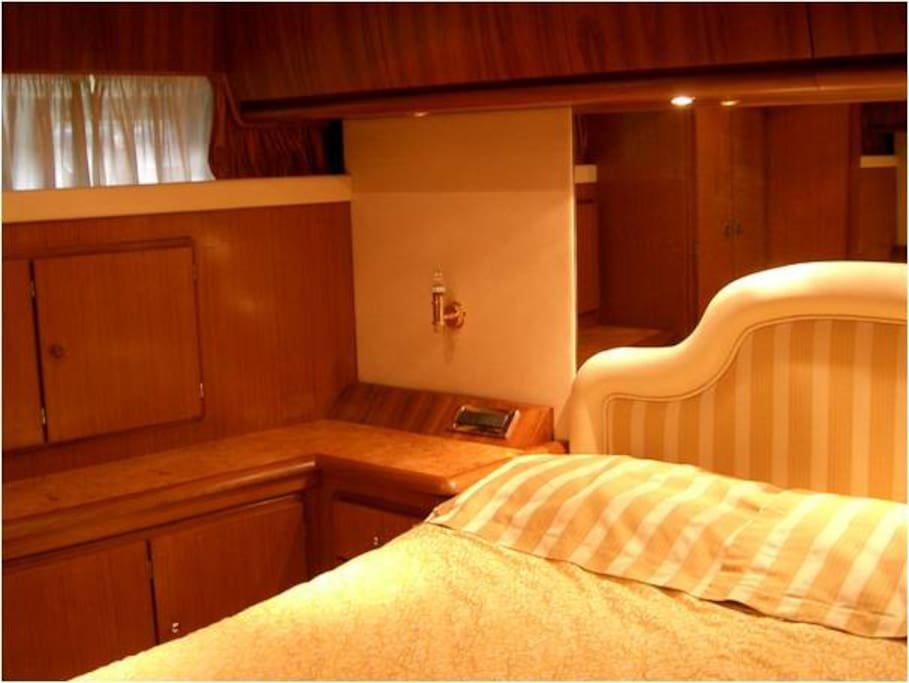 Plenty of storage in the master bedroom