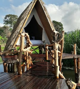 Njung Bali Camp on the edge Lake Batur 1