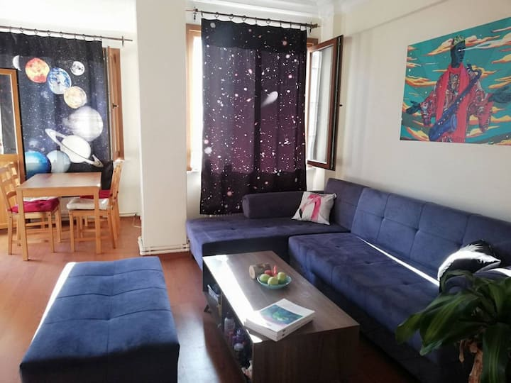 Spacious Bedroom with King Size Bed in Beşiktaş