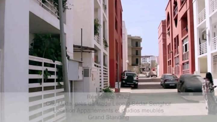 Apartment in Dakar with backyard, WorkSpace, Wifi