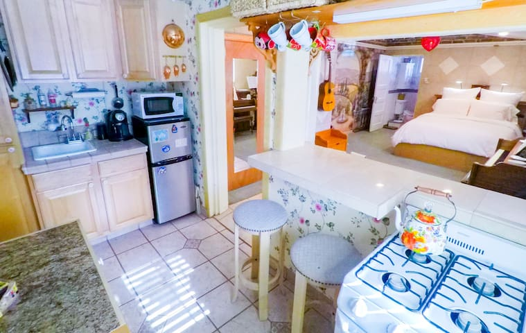 Complete with private kitchen.