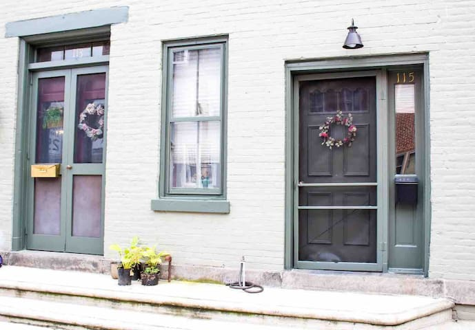 Efficiency apartment attached to 19th century home