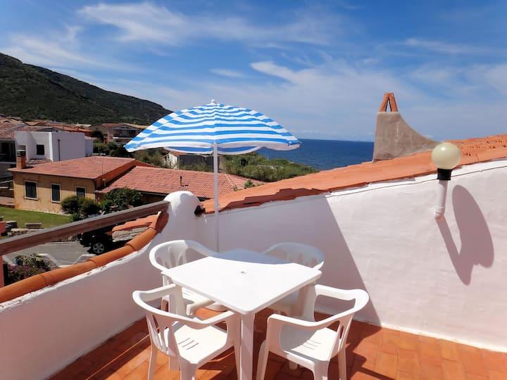 Maison vacances face à la mer avec vue panoramique