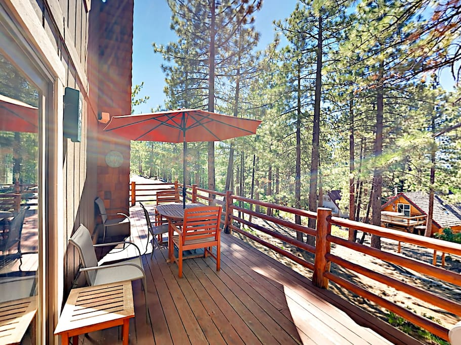 Tucked into a quiet forest, your vacation retreat offers the perfect spot for skiers and riders.