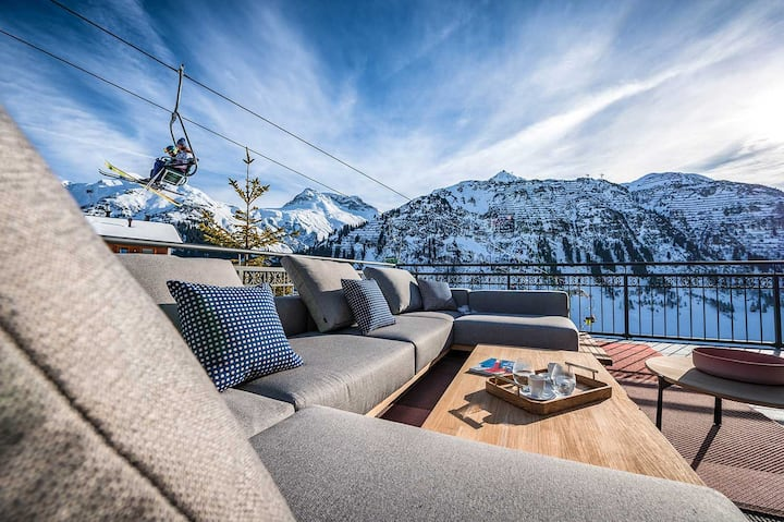 alpine style chalet with pool and spa
