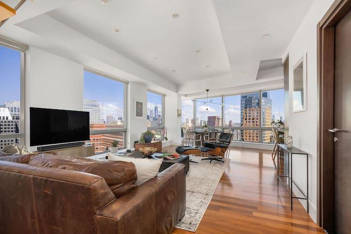 Master bedroom in luxury Downtown Brooklyn