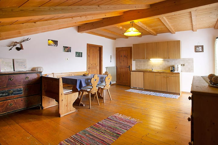 """Apartment """"Aster - Nusserhof"""" near the Skiing Area with Mountain Views, Wi-Fi, Balcony & Shared Garden; Parking Available"""
