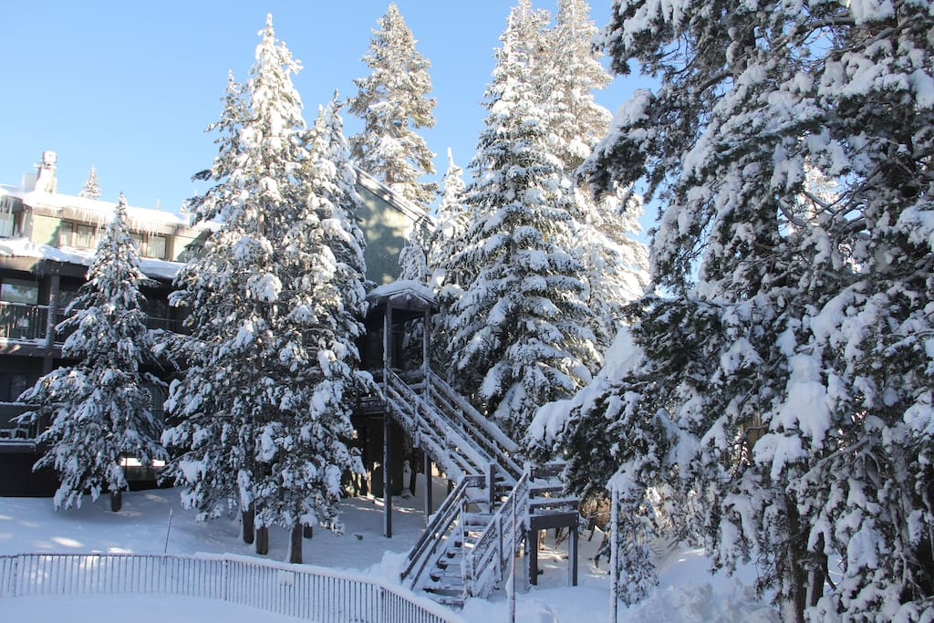 Winter Wonderland - Central Courtyard - Condo is at the Top of Stairs