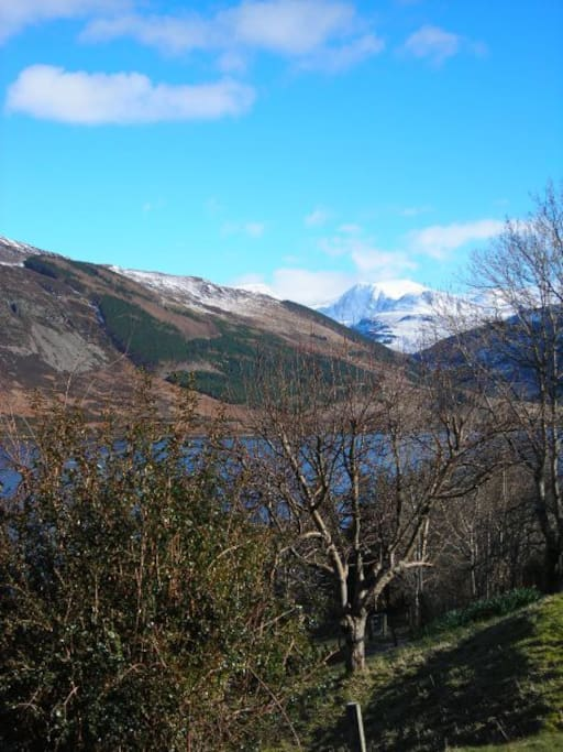 Beinn Dearg as seen from our house in the late autumn