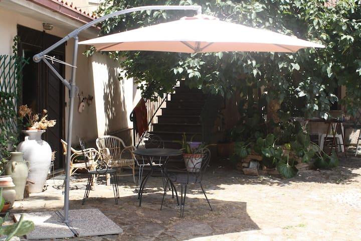 Casa con favoloso cortile nel centro  di Laconi