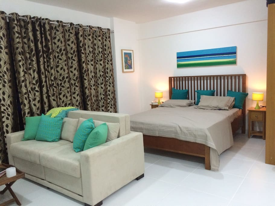 Living/ Sleeping area I  -with bed (2 persons) and sofa bed (2 persons)