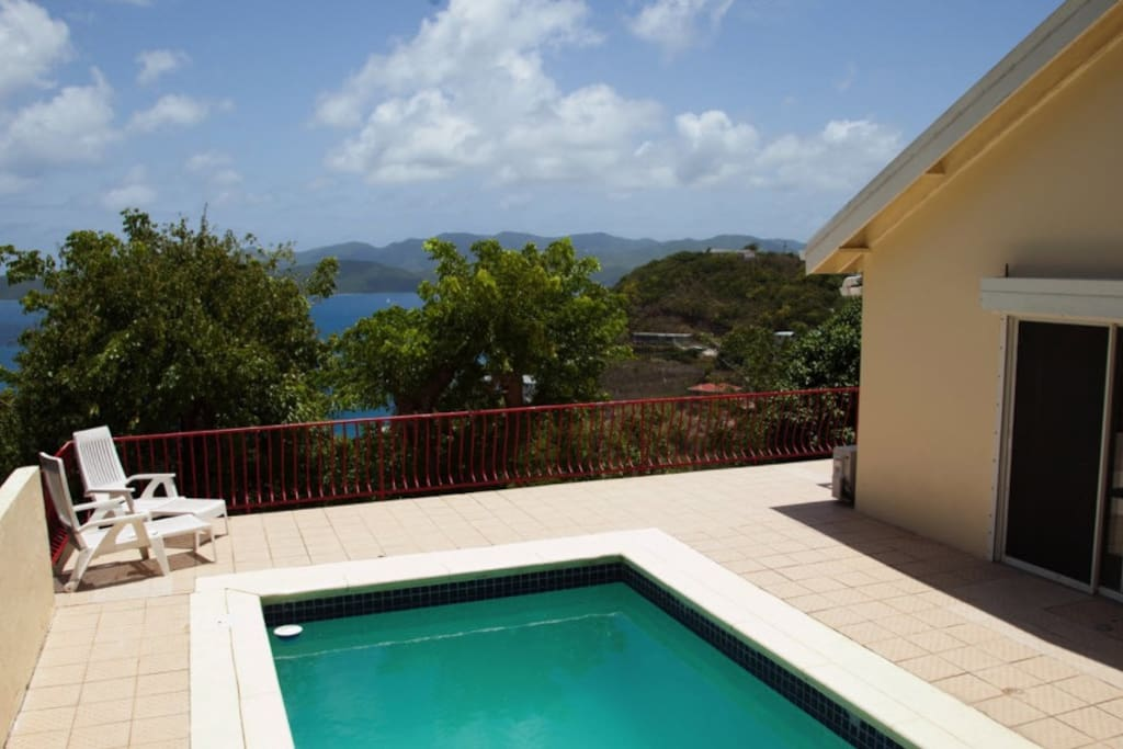 Pool Area, St. John in Distance, before Irma