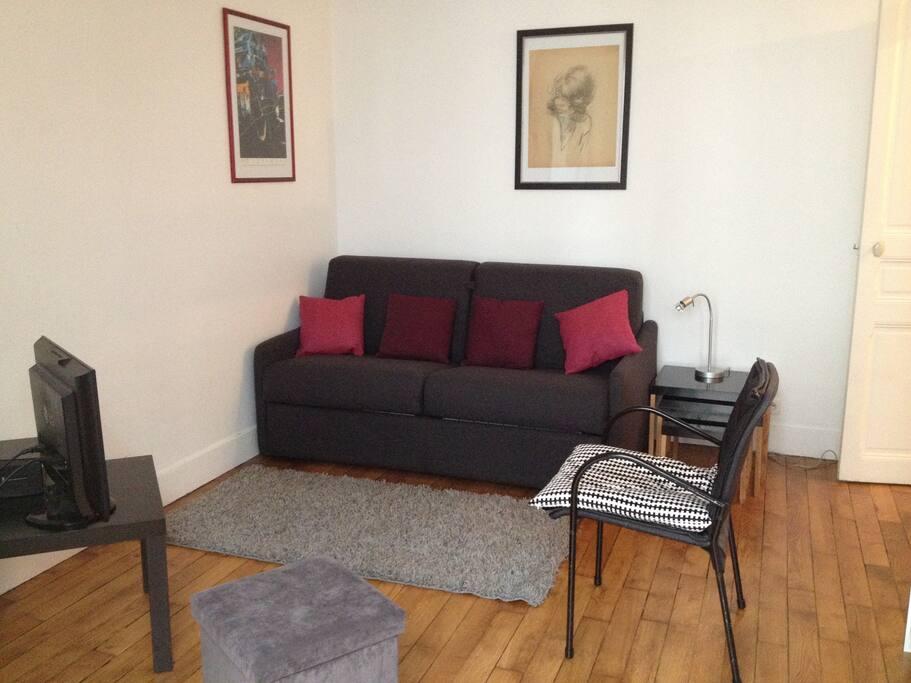Canapé-lit ouverture facile, Bouquet TV & Internet Wifi