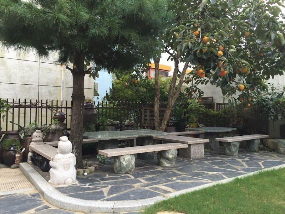 정원 - 청옥석재 테이블