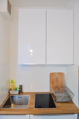 small but nice kitchen - kleine aber feine Küche